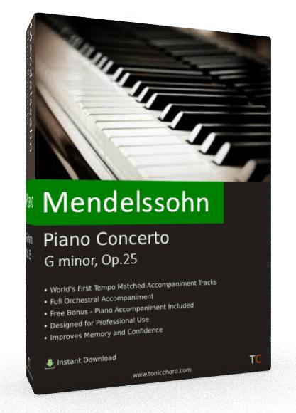 Mendelssohn Piano Concerto G minor, Op.25 Accompaniment
