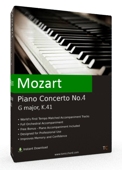 Mozart Piano Concerto No.4 G major, K.41 Accompaniment