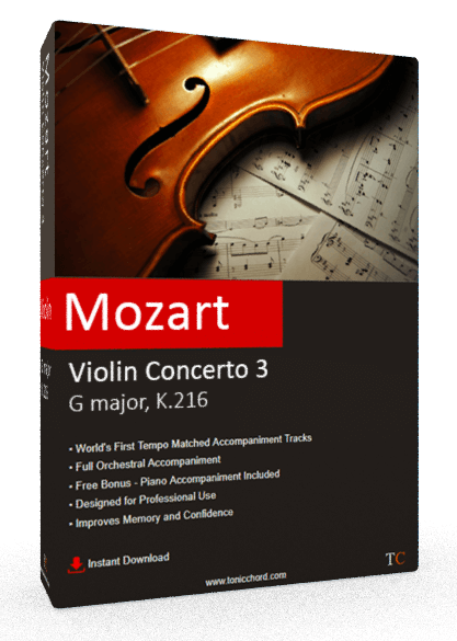 Mozart Violin Concerto No.3 G major, K. 216 Accompaniment