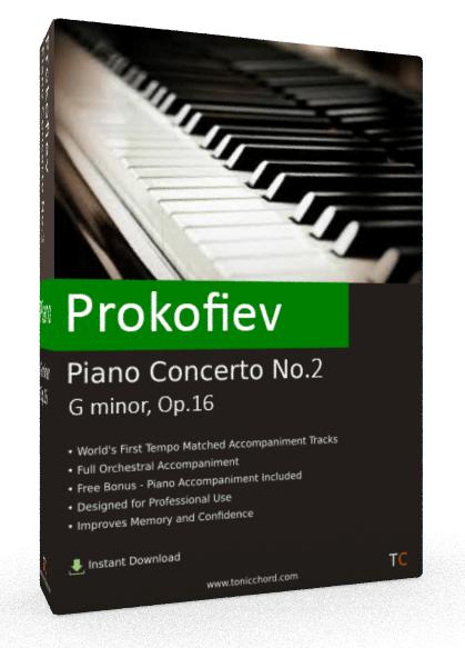 Prokofiev Piano Concerto No.2 G minor , Op.16 Accompaniment