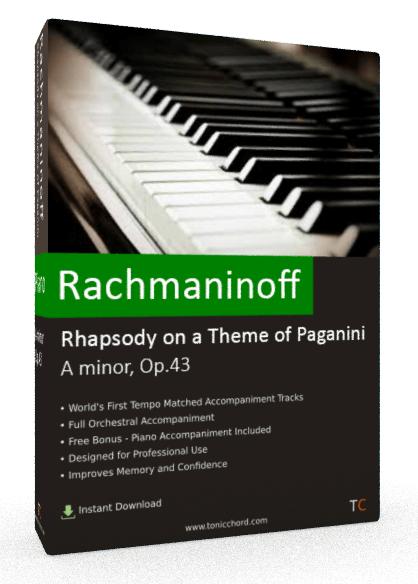 Rachmaninoff Rhapsody on a Theme of Paganini A minor, Op.43 Accompaniment