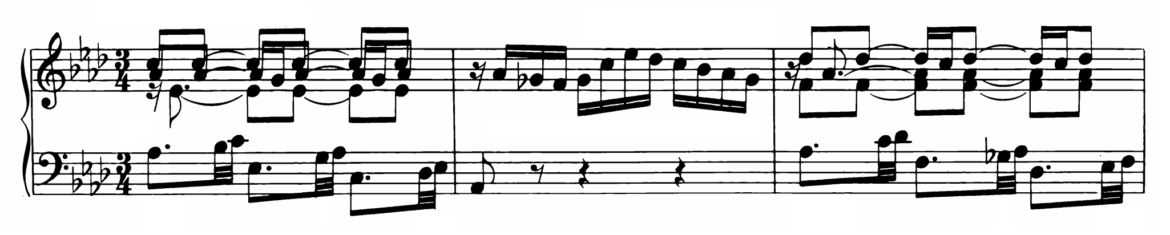 Bach Prelude and Fugue No.17 in Ab major BWV 886 Analysis 1