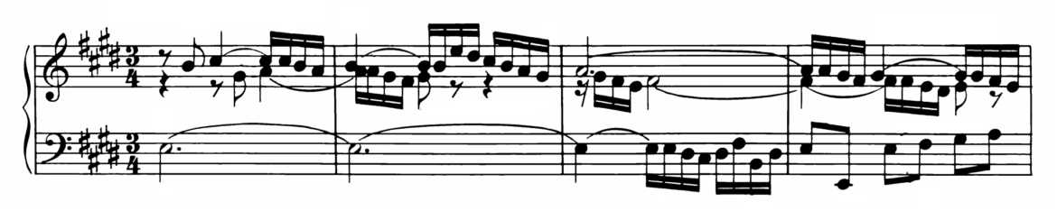 Bach Prelude and Fugue No.9 in E major BWV 878 Analysis 1