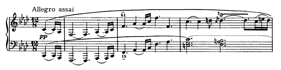 piano sonata 17 beethoven analysis Beethoven's appassionata sonata  beethoven's 32 piano sonatas occupy an important part of the concert repertoire  and g-flat major (4'17 .