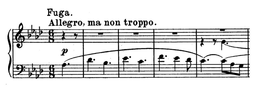 Beethoven Piano Sonata No.31 in Ab major, Op.110 Analysis 4