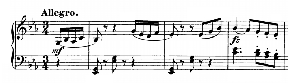 Haydn Piano Sonata in Eb Major Hob. XVI.49 Analysis 1