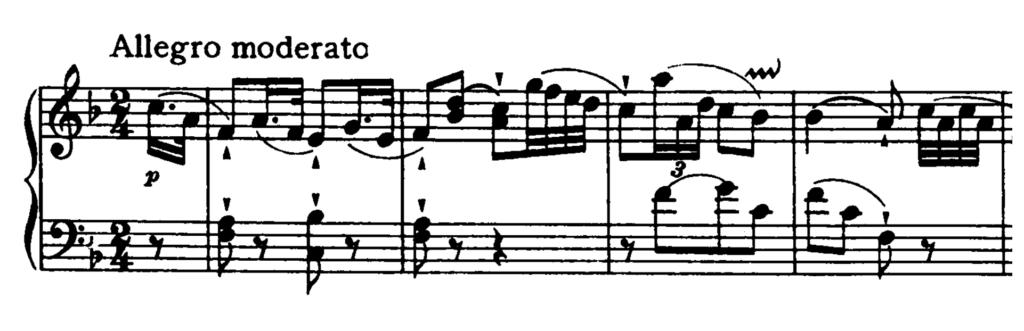 Haydn Piano Sonata in F major Hob. XVI.23 Analysis 1