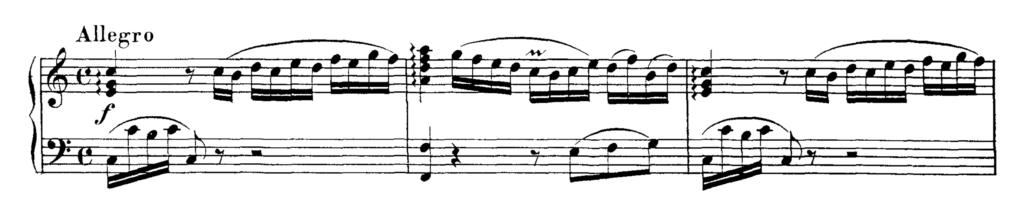 Mozart Piano Sonata No.1 in C major, K.279 Analysis 1