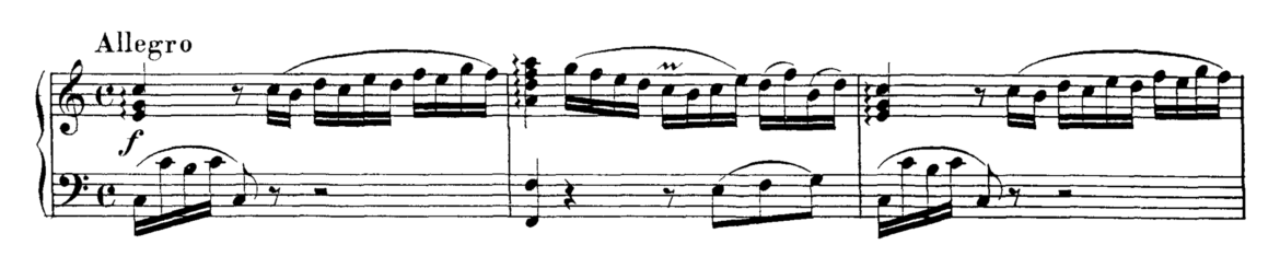 Mozart Piano Sonata No.1 in C major, K.279 Analysis 1