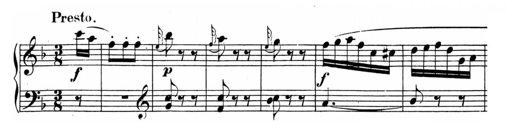 Mozart Piano Sonata No.2 in F major, K.280 Analysis 3