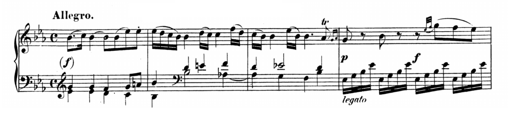 Mozart Piano Sonata No.4 in Eb major, K.282 Analysis 1