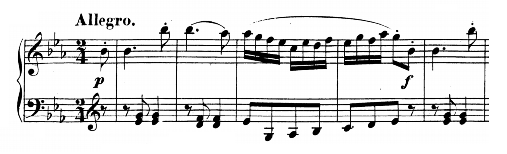 Mozart Piano Sonata No.4 in Eb major, K.282 Analysis 3