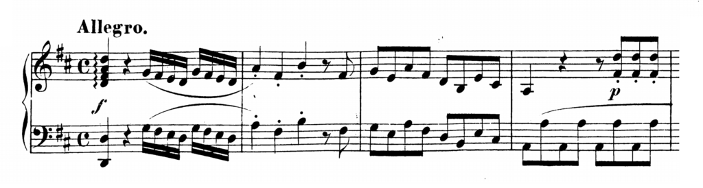 Mozart Piano Sonata No.6 in D major, K.284 Analysis 1