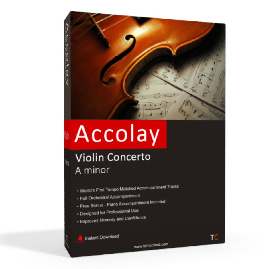 Accolay, Violin Concerto, A minor Accompaniment