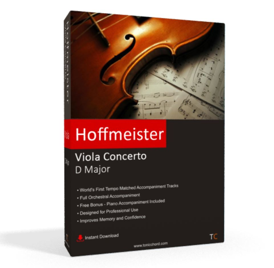 Hoffmeister, Viola Concerto, D Major Accompaniment