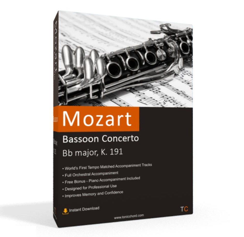 Mozart, Bassoon Concerto, Bb major, K. 191 Accompaniment