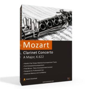 Mozart, Clarinet Concerto, A Major, K.622 Accompaniment