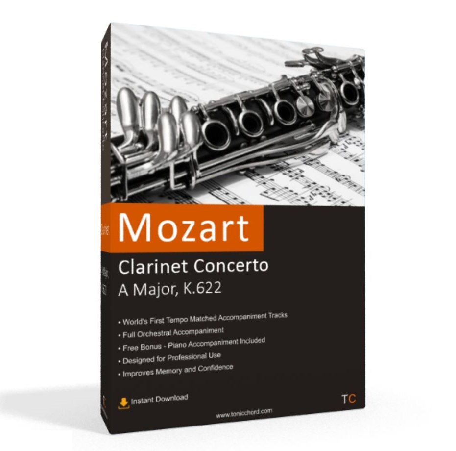 Mozart, Clarinet Concerto, A Major, K.622 Accompaniment