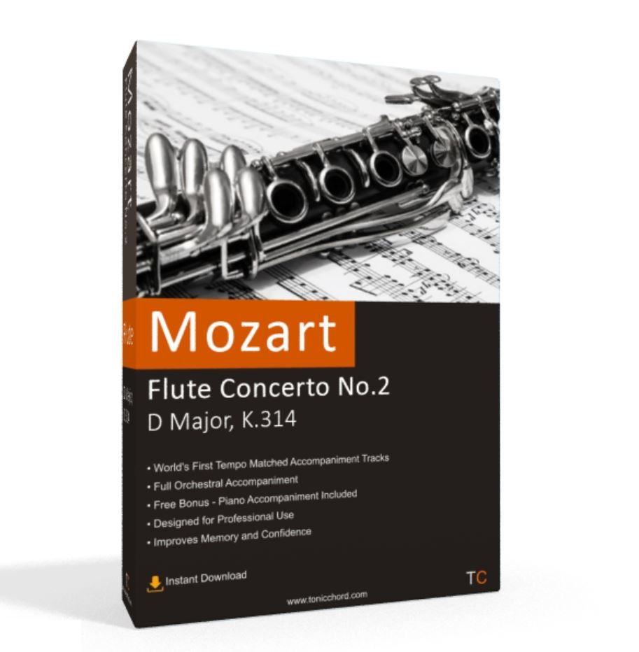 Mozart, Flute Flute Concerto No.2, D Major, K.314 Accompaniment