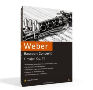 Weber, Bassoon Concerto, F major, Op. 75 Accompaniment
