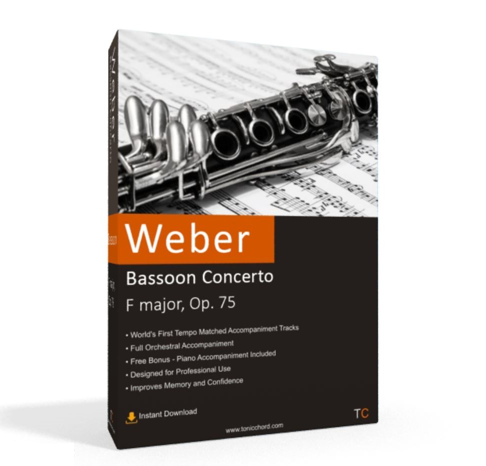 Weber, Bassoon Concerto, F major, Op. 75 Accompaniment
